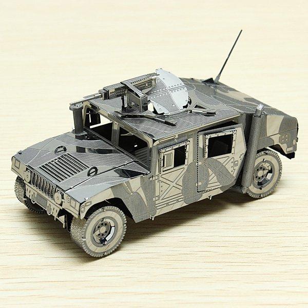 Piececool 4WD Automóvil Militar EE.UU. Hummer P036-S DIY Juguete 3D Rompecabezas Modelos de Corte Láser Para Regalos de Los Niños