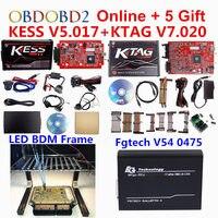 ECU Programmer Online EU Red Kess V2 V5 017 Unlimited KTAG V7 020 EU 0475 FGTECH