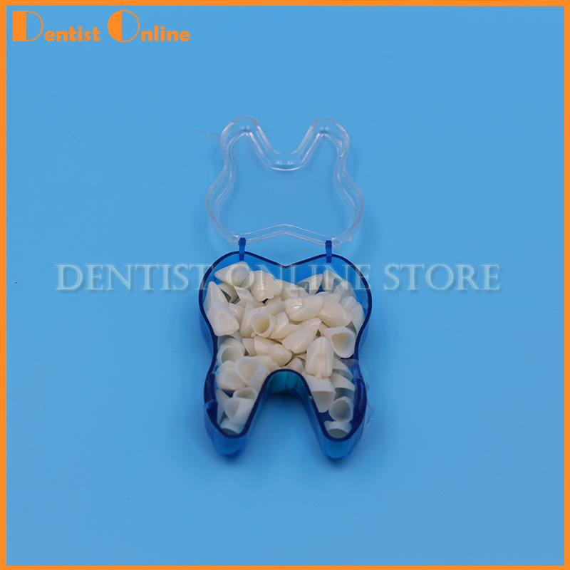 50Pcs/Box Pro Dental Teeth Realistic Dental Crown Oral Care Resin Porcelain Dental Temporary Crown For Anterior & Molar Teeth