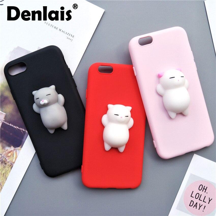 Черный, розовый красный чехол для <font><b>iPhone</b></font> 5 <font><b>5S</b></font> чехол Симпатичные мягкими Спящая кошка кремния мультфильм тонкий мягкий чехол для телефона <font><b>iPhone</b></font> SE/ 5/&#8230;
