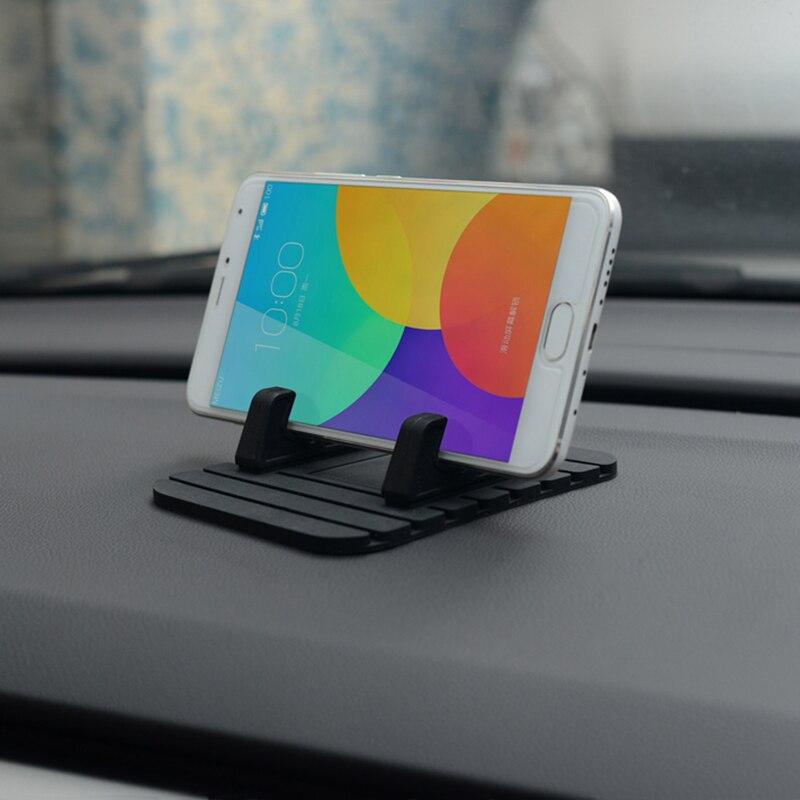 Автомобильный Держатель Телефона Мягкий Силиконовый Мобильный Телефон Маунт GPS Стенды Кронштейн Для iphone 5 6 6s plus Samsung Xiaomi Huawei