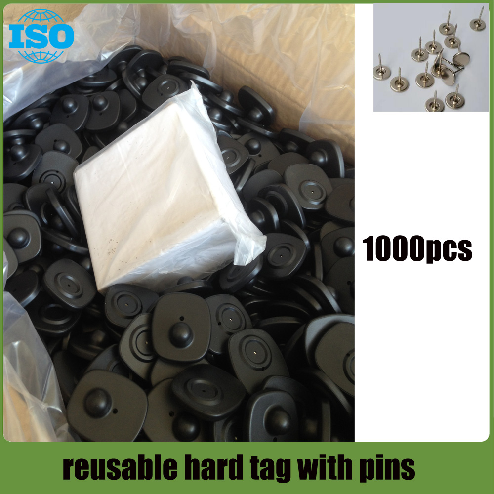 Clothing Security Tags, RF 8.2Mhz Frequency, Pack of 1000pcs with pins