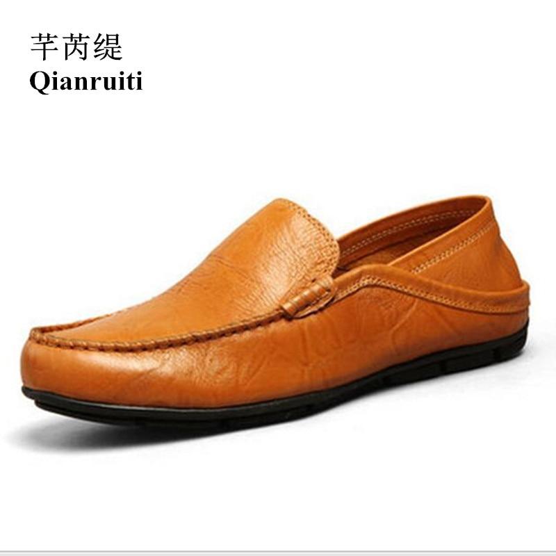Qianruiti hommes chaussures de conduite pliables sans lacet mocassins souple Flexible chaussures de fumer antidérapant bas hommes chaussures décontractées noir blanc