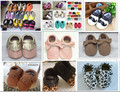 50colors Genuine Leather Baby  Moccasins girls mixed colors soft Baby Shoes First Walker Chaussure Bebe newborn shoes