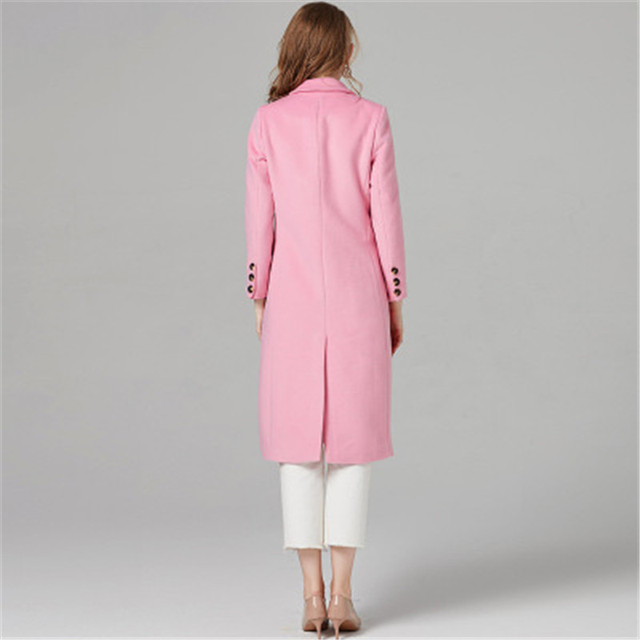 pink wool coat 1
