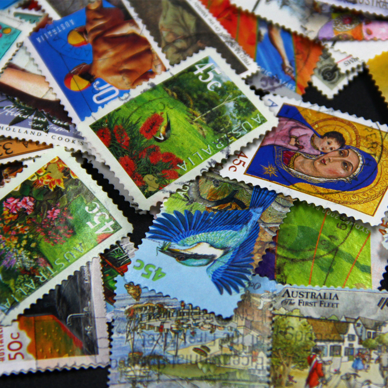100 PCS/Lot No Repeat Australian Postage Stamps Collections From Australia PostMark Stamp Postal All Used, Collection Gift