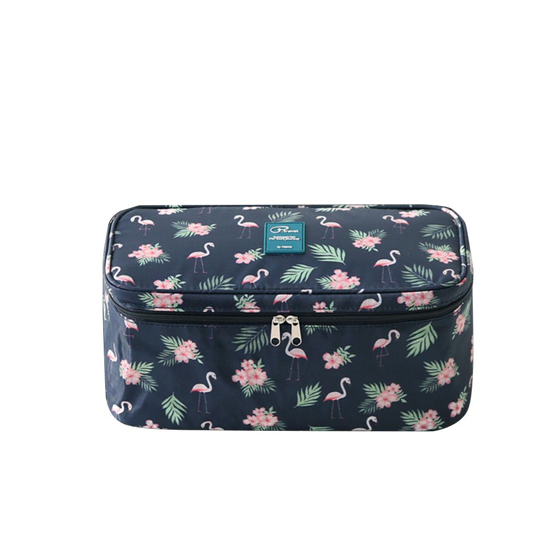 ARESLAND Fashion Flamingo women cosmetic Washing makeup Bag  Travel Toiletries Travelling cosmetics Storage Bag - Dark Blue