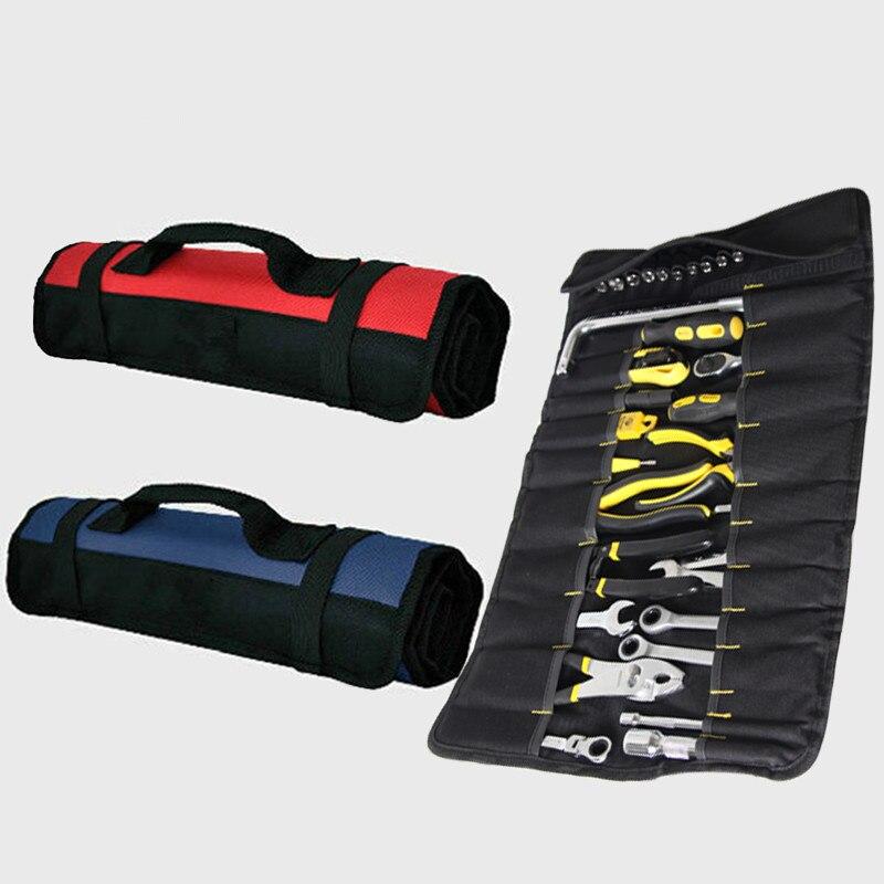 Multifunctional Portable Reel Tool Storage Bag Oxford Fabric Electrical Tool Storage Bag Sleeve Hardware Tool Handbag Red / Blue