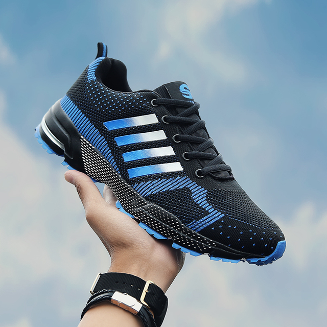 2019 Hot Koop Mannen Schoenen Mannen Casual Schoenen Zomer Unisex Lichtgewicht Ademend Mesh Mode Mannelijke Schoenen Sneakers Plus Size 38 -47