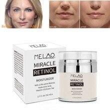 MELAO 50ML Retinol 2.5% Moisturizer Cream Anti Aging and Reduces Wrinkles Fine Lines Day and Night Retinol Cream Drop shipping