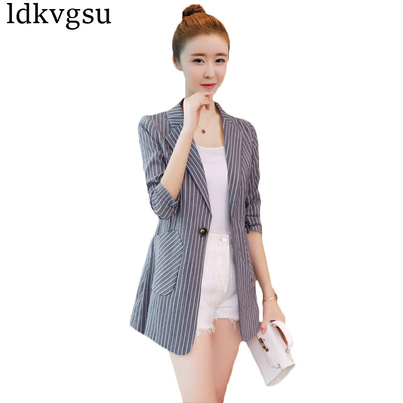 80a631e4958 2018 New European Fashion Women Blazer Jacket Spring Autumn Black Coats Long  Sleeve Office Lady Suits Plus Size 3XL ...