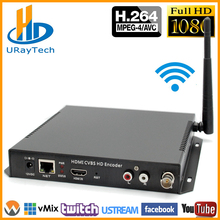DHL Free Shipping HDMI + CVBS /AV /RCA /BNC WIFI SD Video Audio Encoder H.264 Hardware Encoder RTSP UDP For IPTV, Live Streaming