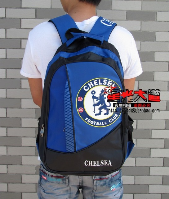 Chelsea double-shoulder computer backpack logo student school bag sports  backpack 24841a8c4e1db