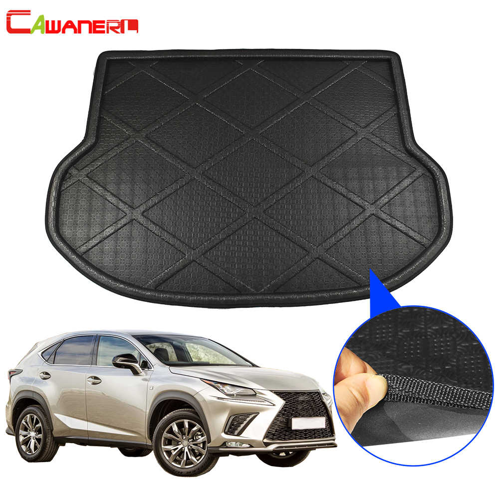 Cawanerl For Lexus NX NX200T NX300H NX300 2015-2018 Car Trunk Mat Floor Boot Tray Liner Cargo Carpet Mud Kick Pad Accessories