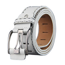 Mens Leather Smooth Girdle Buckle Waistband Business prevalent Low-profile Stylish Decoration Soft Elastic Belt(China)