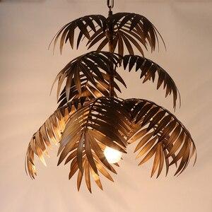 Image 3 - لوفت الحديثة شجرة جوز الهند نجفة مزودة بإضاءات ليد E27 الصناعية الإبداعية مصباح معلق لغرفة المعيشة مطعم غرفة نوم اللوبي فندق