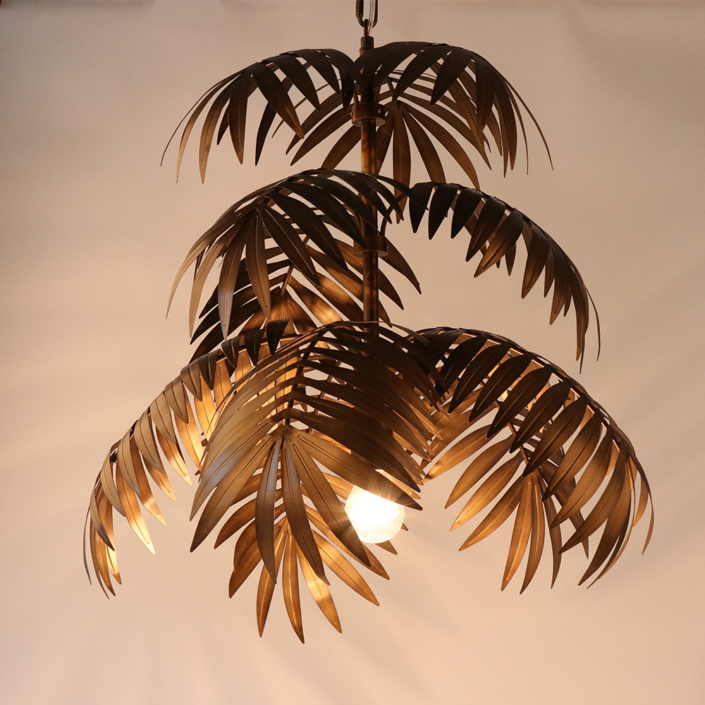 Image 3 - Loft modern coconut tree pendant light LED E27 industrial creative hanging lamp for living room restaurant bedroom lobby hotel-in Pendant Lights from Lights & Lighting