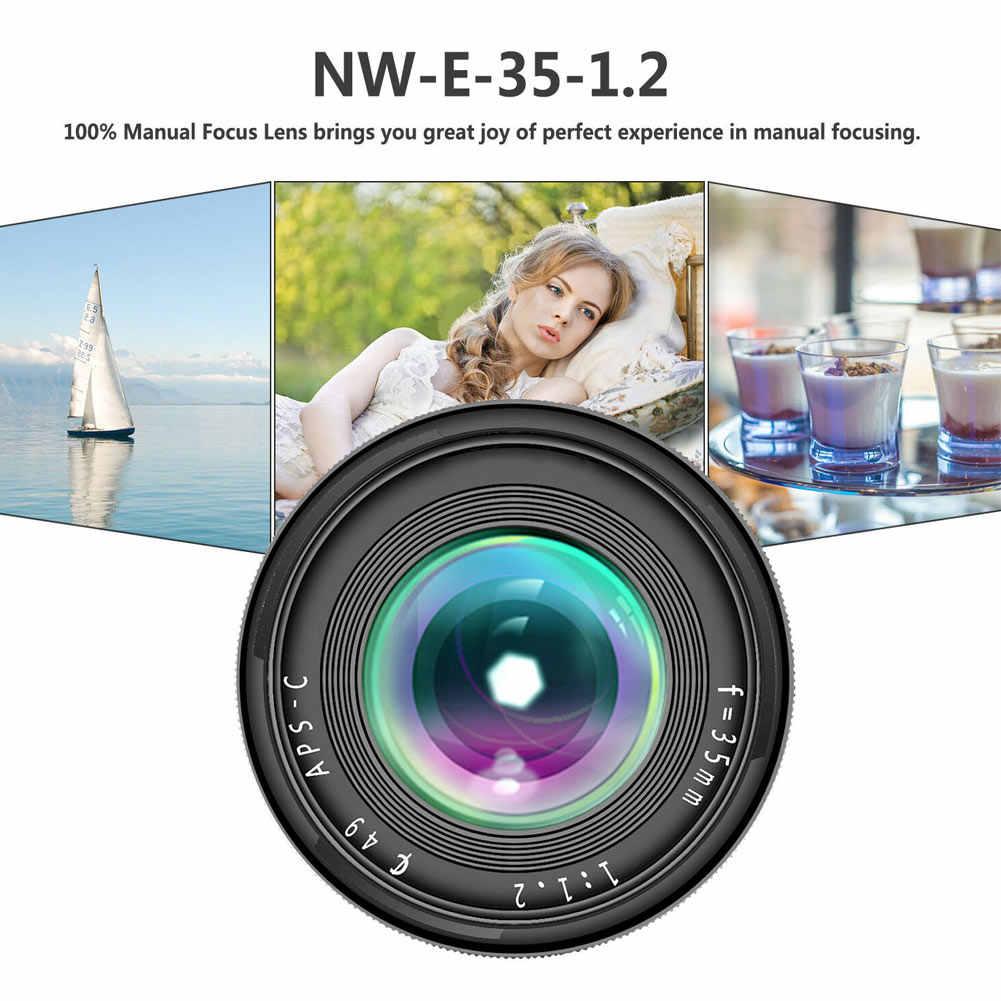 35 мм F1.2 ручная фокусировка объектива металлический корпус прочный легкий объектив для Fuji X HSJ-19