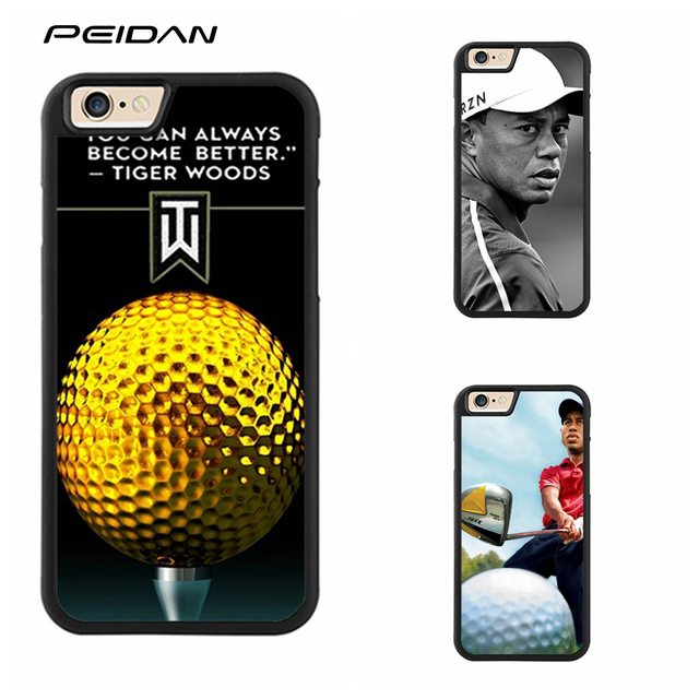 low priced 160b3 9028f US $4.99 |PEIDAN GOLF Sports Superstar Tiger Woods Logo cover case for  iphone X 4 4s 5 5s 6 6s 7 8 6 plus 6s plus 7 plus 8 plus #ee212-in Fitted  Cases ...