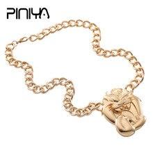 Newest Choker Mens Gold Color Pendant Necklace Jewelry Vintage Big Roaring Lion Head Pendulums Chain Chocker Wholesale