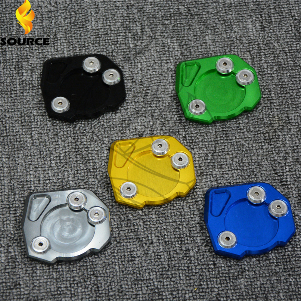 CNC accesorios Motocicleta moto Side Pata de Cabra Soporte Placa de Extensión Pa
