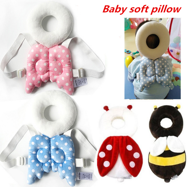 Cute Angel Pattern Baby Head Protection Pad Toddler Headrest Pillow