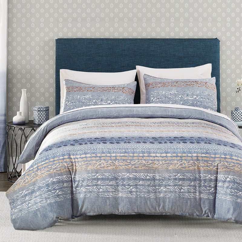 Stripe Modern Printing Bedding Set Pillowcase And Duvet Cover Sets Comfortable Breathable Home Textile Comforter