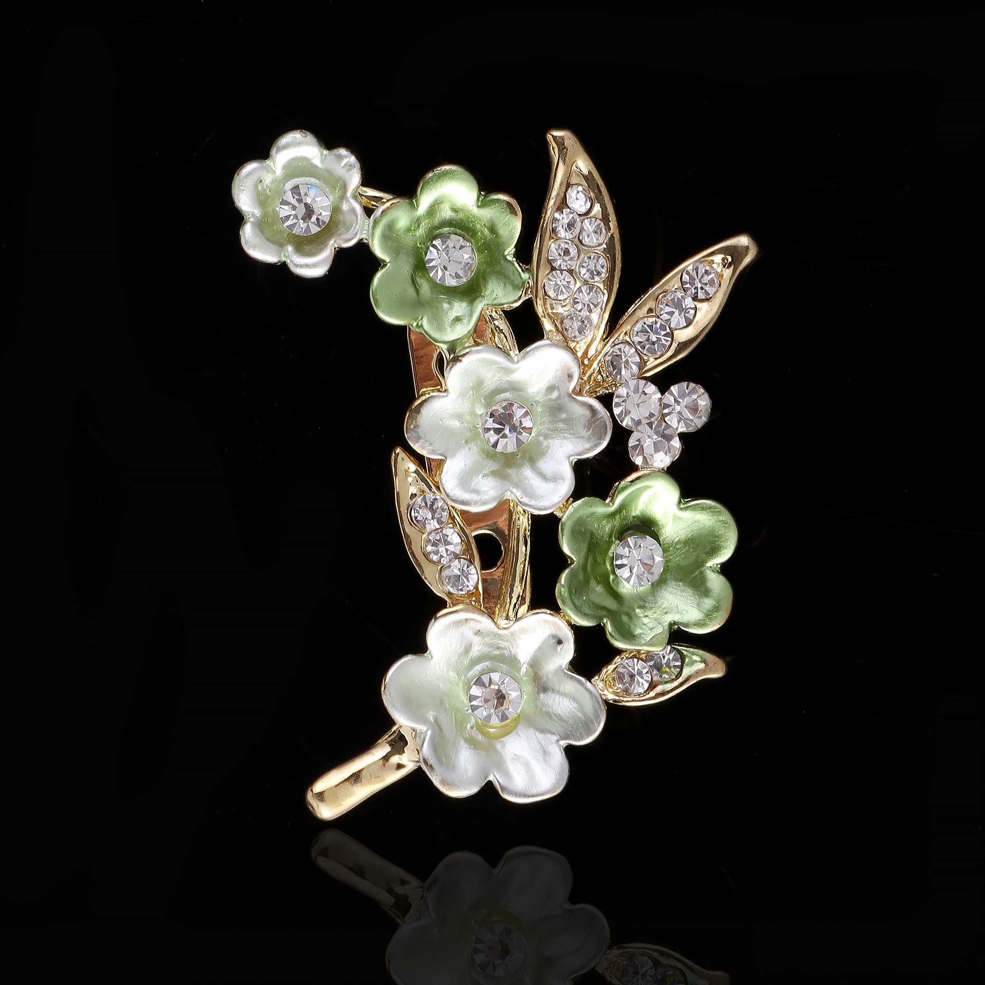3 pcs a lot <font><b>new</b></font> <font><b>arrival</b></font> purple <font><b>white</b></font> <font><b>green</b></font> <font><b>flower</b></font> brooches resin stone crystal brooches fashion women jewelry clothes accessory