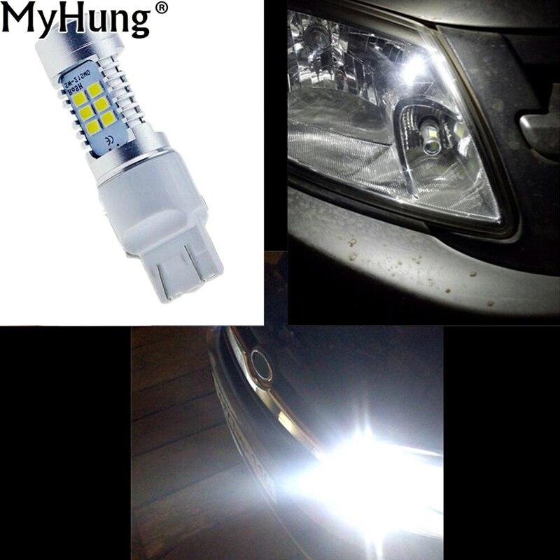 Auto LED lampa T20 7443 21SMD Vysoce výkonné LED boční a brzdové světlo žárovky Bílé autodoplňky 2ks za sadu Auot příslušenství
