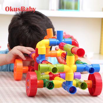 72 sztuk zestaw dzieci DIY edukacyjne budynek bloki zestaw wody ciasto montażu zabawki wtyczka pasują do siebie bloki koordynację ręka-oko kolory tanie i dobre opinie XC273 Z tworzywa sztucznego 5-7 lat multicolor