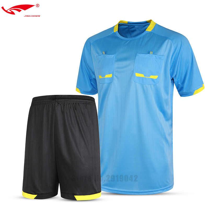 812f18103 Survetement football 2017 professional mens soccer referee uniform thai  referee judge jersey sets pocket shirt soccer