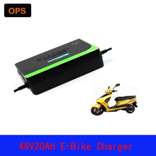 OPS Lead Acid Deepcycle Battery Portable Charger 48V 20AH For Electric Bike Bicyle  Scooters DC100-240V Output 58V 3A  Volt ce chargers 48v 15a acid lead battery charger 48 volt