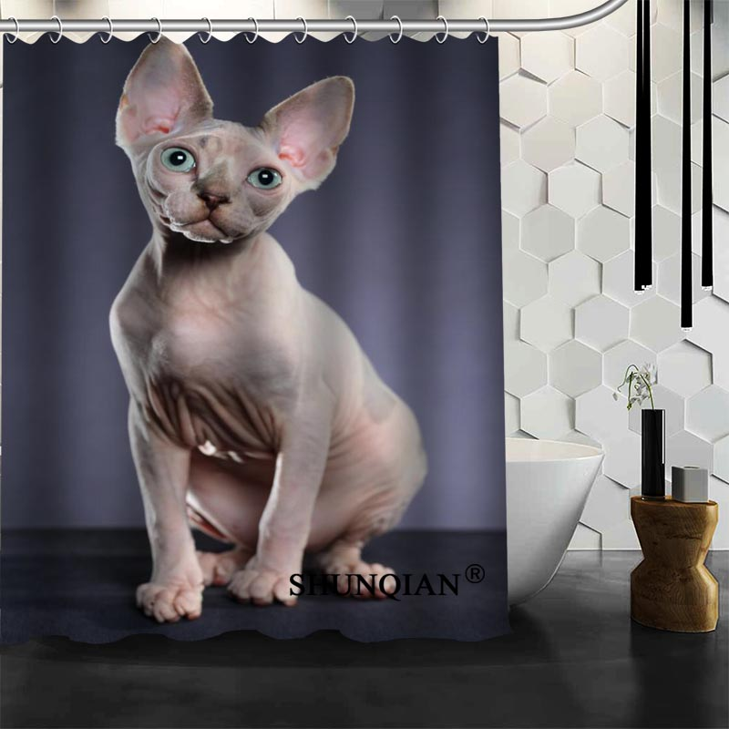 Siamese cat Shower Curtain High Quality Bath screens Modern Polyester Fabric Customized bath curtain