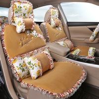 Winter Warm Universal Fit Car Seat Supports Artificial Plush Seat Covers Cars Seats Cushion 11 pcs/set Auto Interior Accessories