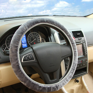 Image 3 - Soft Plush Car DIY Steering Wheel Cover Braid On The Steering wheel Winter Warm Covers Car Styling Interior  Accessories