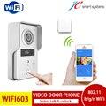 2015 Latest IP video intercom doorphone wireless wifi door camera with two-way hands-free calls & unlock door remotely by phone