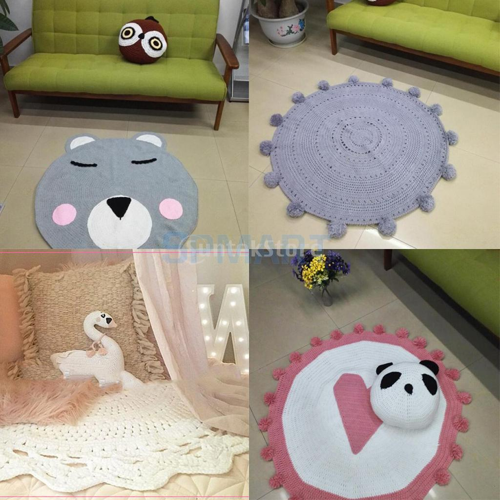 Round Kids Baby Toddler Play Mat Crawling Creeping Mat Decor Floor Mat Pad цена 2017