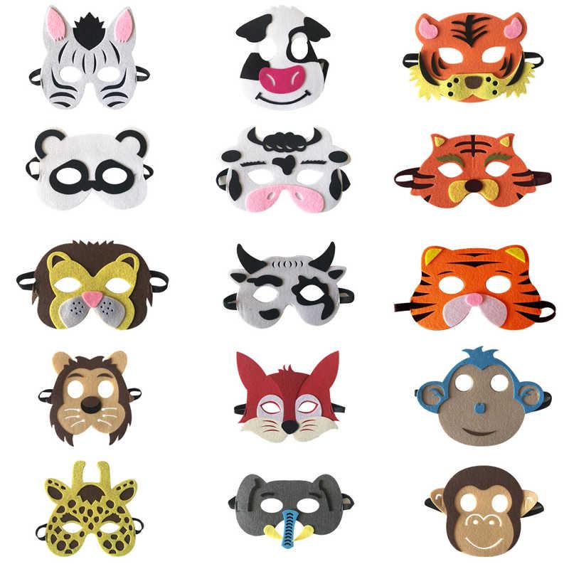 221805eb2 1pc animal mask zebra cow tiger fox lion elephant monkey panda mask kids  children's day birthday