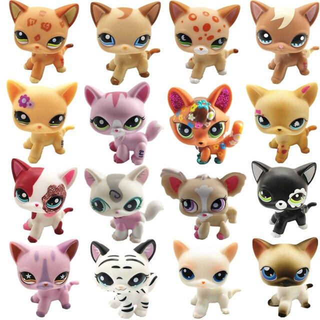 LPS Pet Shop Bonito Cabelo Curto Gato Brinquedos Great Dane Cães Collie Stand Figura de Ação PVC Brinquedos Bonecas Cosplay Modelo presentes brinquedo Para Crianças