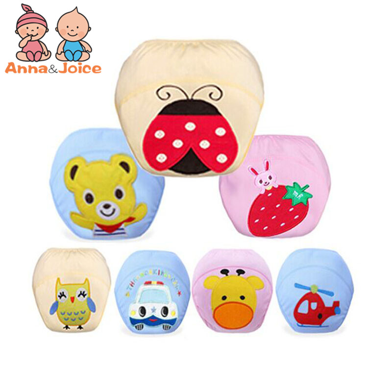 30 Pcs/lot Child Cloth Study Pants Nappy Cover Washable Diapers Baby Diaper Cotton Owl Bear StyleWholesaleftrx0004