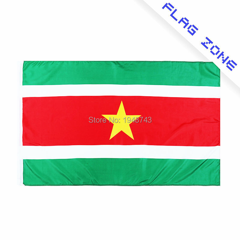 2018 The Suriname Flag Polyester Flag 5*3 FT 150*90 CM High Quality