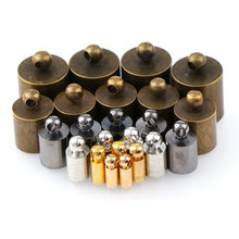 50pcs/lot Rhodium Gold Silver Bronze Necklace Leather Cord End Caps Tassel Crimp End Connector DIY Jewelry Findings(China)
