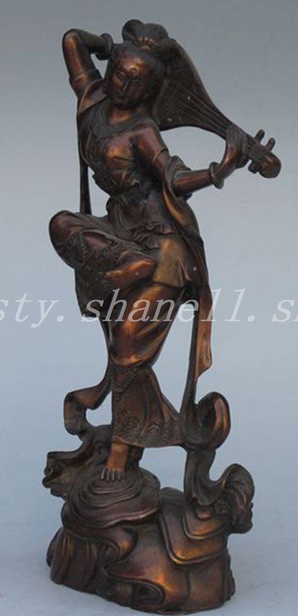 Vintage Tibetan Buddhism Brass Sculpture Dancer