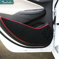 Tonlinker 4 PCS DIY Car Styling NEW Polyester Door Kick Protection Pad Cover Case Stickers for Chevrolet Cruze 2015 Accessories