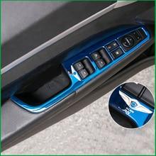 Para Hyundai Elantra Avante AD 2016 2017 Apoio de Braço Da Porta Interior do Carro Botão Interruptor de Elevador Janela Capa Guarnição LHD Carro- styling