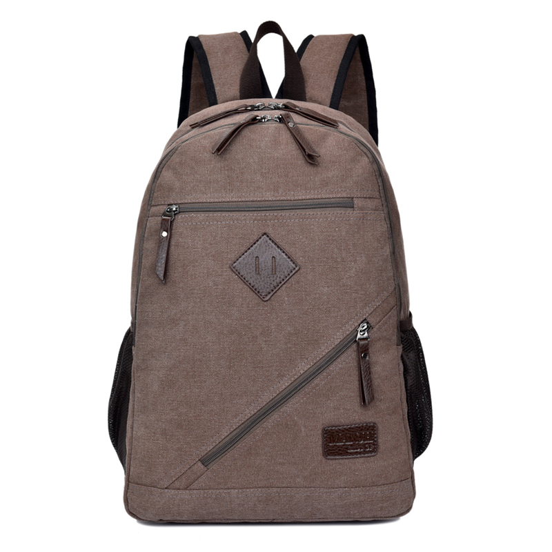 Vintage Canvas Men Laptop Backpack 14 Inch Large Casual Travel Backpack Men Leisure School Bags For Teenage Boys Rucksack 1305 canvas backpack women for teenage boys school backpack male