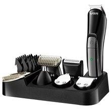 Мужская профессиональная машинка для стрижки волос, электрическая машинка для стрижки бороды, триммер для мужчин, машинка для стрижки волос, стрижка тела, носа, ушей, усов