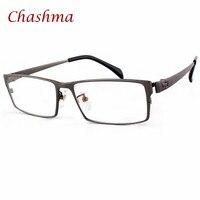 Chashma Brand Gentlemen Pure Titanium Eyeglasses Lentes Opticos Gafas Plus Size Wide Face Men Eyewear Full Rimmed Optical Glass