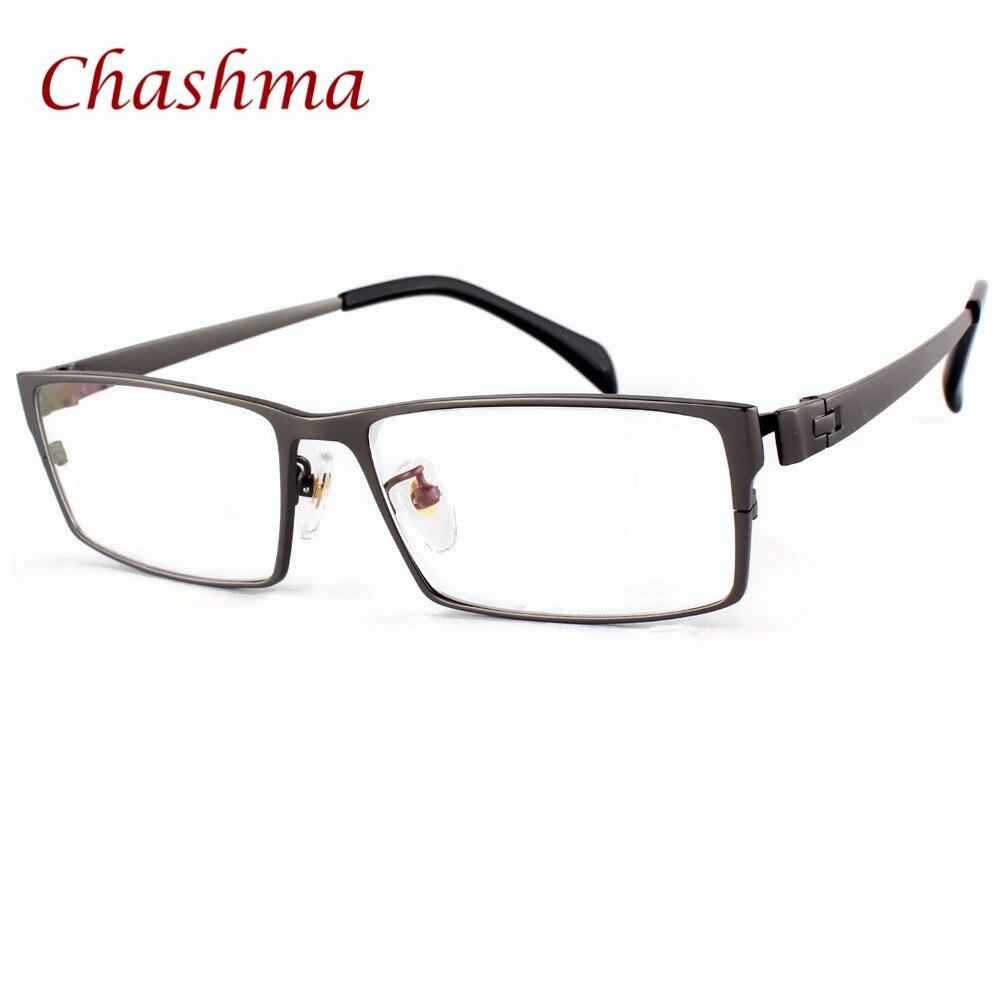 Chashma Marque Messieurs Titane Pur Lunettes Lentes Opticos Gafas Plus La Taille Large Visage Hommes Lunettes Plein Bordé Optique En Verre