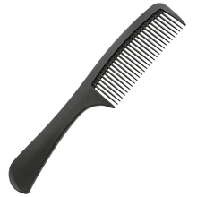 Tamaño grande profesional peine antiestático del pelo fuerte del carbón para pelo largo salón peluquería Herramientas